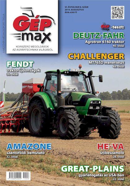GÉPmax – 2014-08 – augusztus