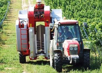 ALMA ? európa piacvezető vontatott szőlőbetakarító-gépe