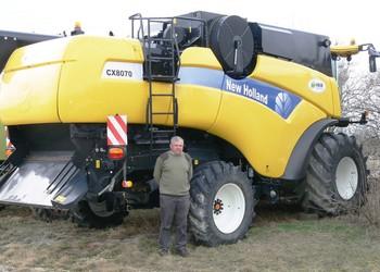New Holland CX 8070 kombájn Gépmax Teszt – Nagyon jó gabonás gép 8,3 t/ha búzaterméshez
